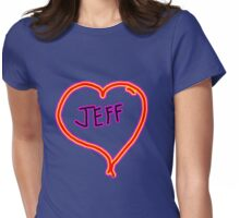 i love Jeff heart  Womens Fitted T-Shirt