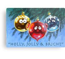 Holly, Jolly & Bright Metal Print