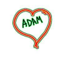 i love Adam heart  Photographic Print