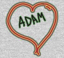 i love Adam heart  One Piece - Long Sleeve