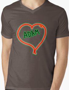 i love Adam heart  Mens V-Neck T-Shirt
