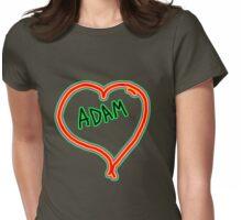 i love Adam heart  Womens Fitted T-Shirt