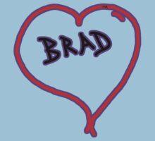 i love brad heart  One Piece - Short Sleeve