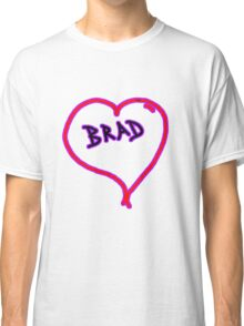 i love brad heart  Classic T-Shirt