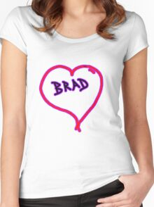 i love brad heart  Women's Fitted Scoop T-Shirt