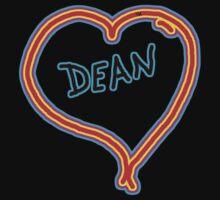 i love dean heart  One Piece - Long Sleeve
