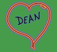 i love dean heart  Kids Clothes