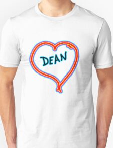i love dean heart  Unisex T-Shirt