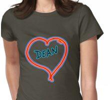 i love dean heart  Womens Fitted T-Shirt