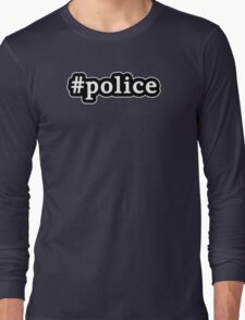 Police - Hashtag - Black & White Long Sleeve T-Shirt
