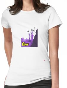 Halloween spooky alone at the castle  Womens Fitted T-Shirt