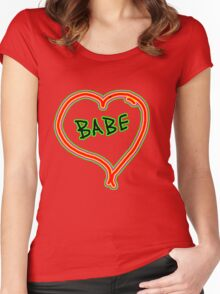 I LOVE babe heart  Women's Fitted Scoop T-Shirt