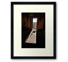 Chair in the Doorway Framed Print