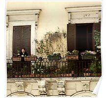 Balcony Garden-Rome, Italy Poster