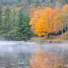 Autumn Reflections on Bass Lake by Karen Peron