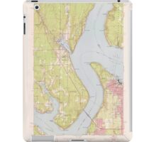 USGS Topo Map Washington State WA Gig Harbor 241266 1953 24000 iPad Case/Skin