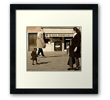 Me and My Shadow-Venice, Italy Framed Print