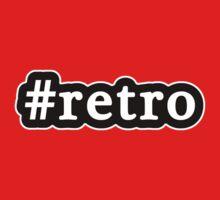 Retro - Hashtag - Black & White Kids Tee