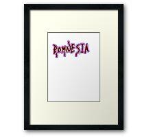 Romnesia Obama Coins Mitt Romney  Framed Print