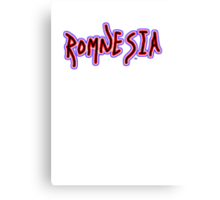Romnesia Obama Coins Mitt Romney  Canvas Print