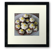 Coconut chocolate cookies Framed Print