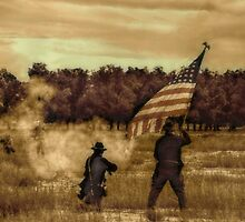 Civil War Re-enactment by Sheryl Gerhard