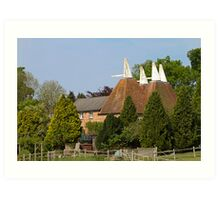 Oast House conversion Art Print
