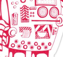 Red Coffee Maker Sticker