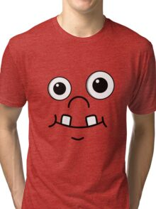 Cute funny cartoon face Tri-blend T-Shirt