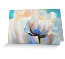 Coco In Love, dramatic floral art Greeting Card