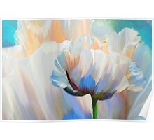 Coco In Love, dramatic floral art Poster