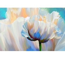 Coco In Love, dramatic floral art Photographic Print