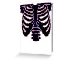 HALLOWEEN COSTUME RIB CAGE Greeting Card