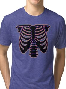 HALLOWEEN COSTUME RIB CAGE Tri-blend T-Shirt