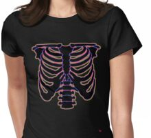 HALLOWEEN COSTUME RIB CAGE Womens Fitted T-Shirt