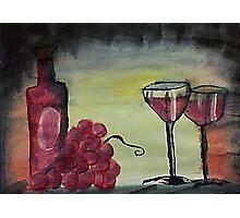 Let's celebrate, watercolor Photographic Print