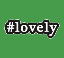 Lovely - Hashtag - Black & White Baby Tee