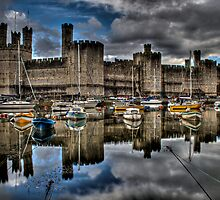 Caernarfon Castle HDR by Ian Richardson