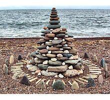 Lake Superior Christmas Tree Photographic Print