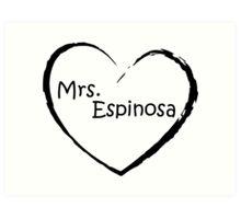 Mrs. Espinosa - Black Art Print