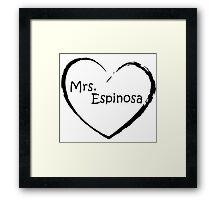 Mrs. Espinosa - Black Framed Print