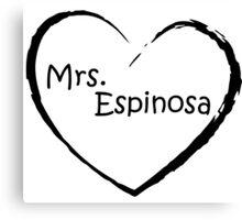 Mrs. Espinosa - Black Canvas Print