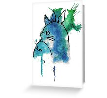 Studio Ghibli Totoro watercolour Greeting Card