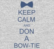 Keep Calm and Don a Bow-Tie One Piece - Long Sleeve