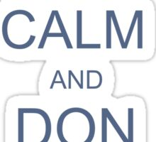 Keep Calm and Don a Bow-Tie Sticker