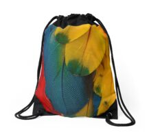 Macaw Feather Magic Drawstring Bag