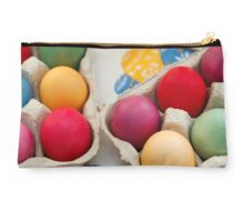 Painted Easter Eggs - Green Yellow Purple Studio Pouch