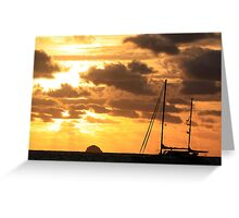 MCC Sunset Sailing Greeting Card