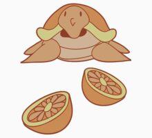Orange Citrus Turtle Kids Tee