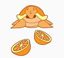 Orange Citrus Turtle Womens Fitted T-Shirt